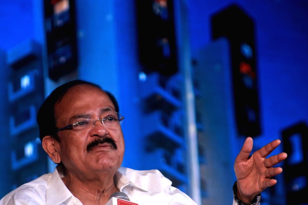 Union Urban Development Minister M Venkaiah Naidu address a conclave on GST in New Delhi on June 30, 2017. - M Venkaiah Naidu