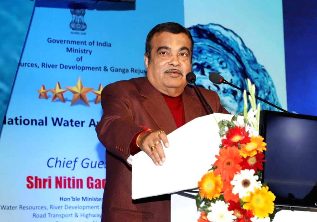 Union Water Resources Minister Nitin Gadkari addresses at the presentation of the National Water Awards, in New Delhi, on Feb 25, 2019. - Nitin Gadkari