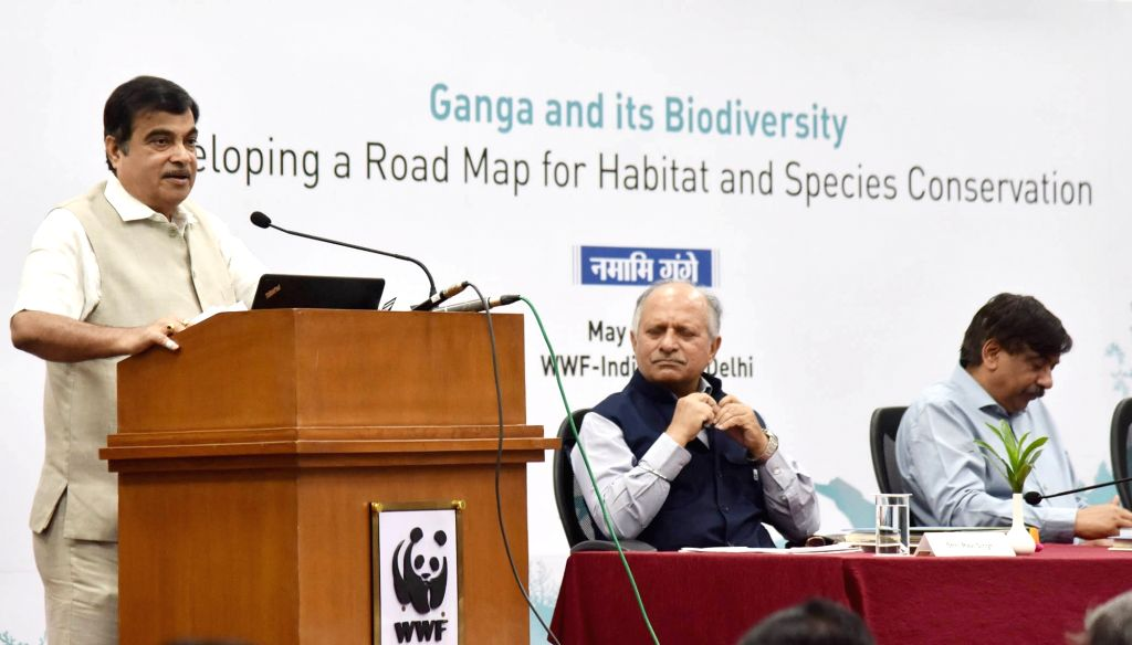 "Union Water Resources, River Development and Ganga Rejuvenation Minister Nitin Gadkari addresses at the inauguration of workshop on ""Ganga and its Biodiversity: Developing a Road Map for ... - Nitin Gadkari and P. Singh"