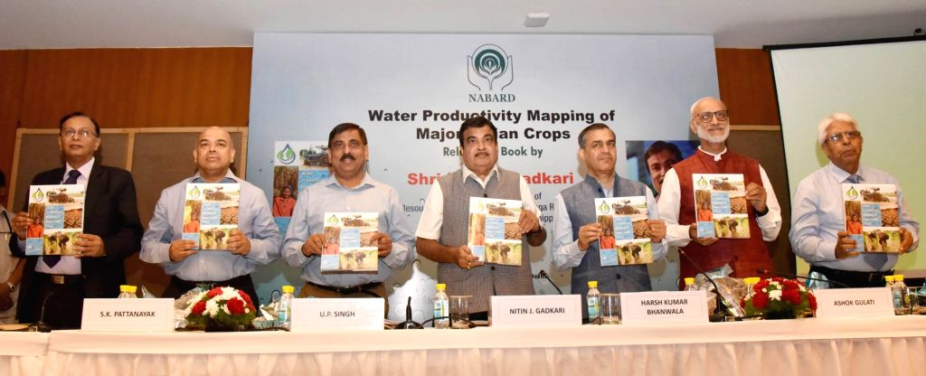 Union Water Resources, River Development and Ganga Rejuvenation Minister Nitin Gadkari releases NABARD's Publication 'Water Productivity Mapping of Major Indian Crops' along with ... - Nitin Gadkari and P. Singh