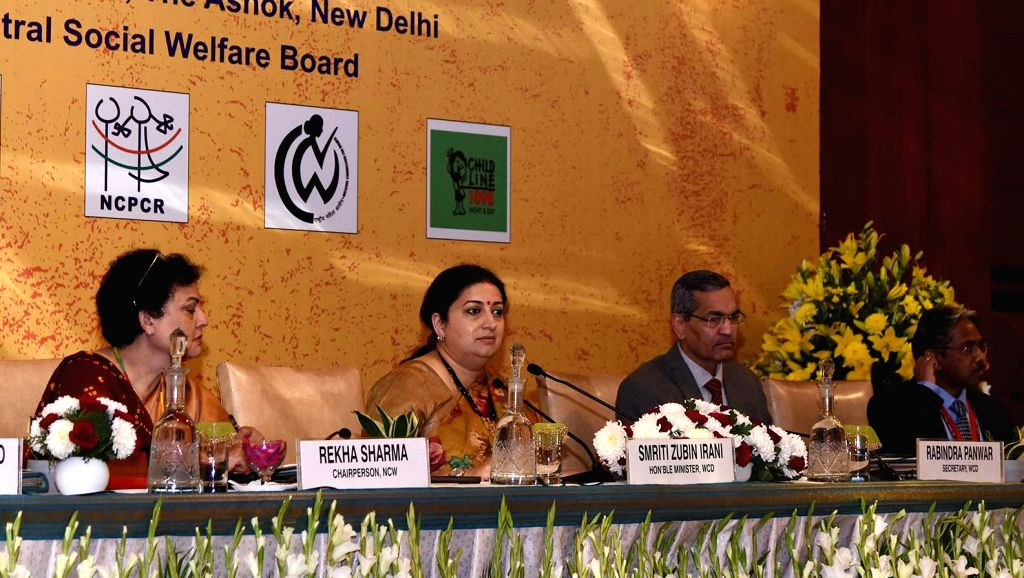 """Union Women & Child Development and Textiles Minister Smriti Irani addresses at the conference on """"Redefining Welfare, Safety and Security of Women and Children-Role of ... - Smriti Irani"""