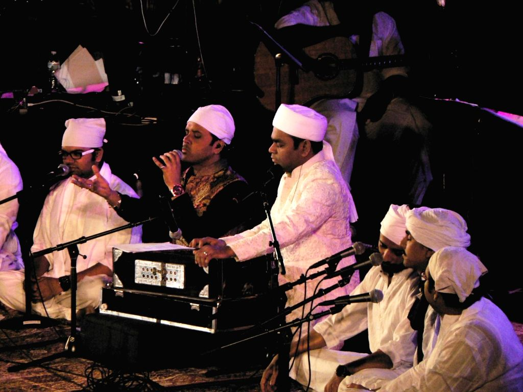 United Nations: A R Rahman and his choir perform devotional music at the Indian Independence Day concert at the United Nations on Aug. 15, 2016. Unlike the other numbers, these were performed in a ...