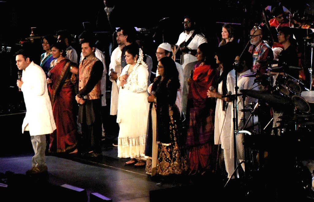 """United Nations: A R Rahman and his ensemble belt out """"Jai Ho"""" at the Indian Independence Day concert at the United Nations on Aug. 15, 2016. Rahman performed 50 years after M S ..."""