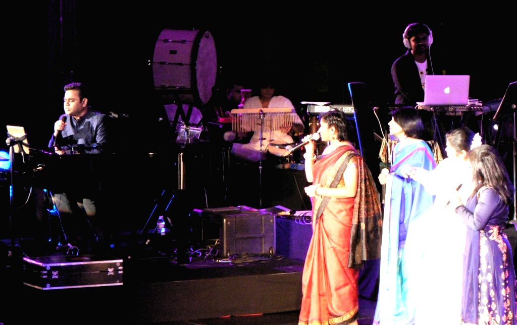 United Nations: A R Rahman performs at the Indian Independence Day concert organised at the United Nations on Aug. 15, 2016.  Rahman performed 50 years after M S Subbulakshmi's historic concert. ...