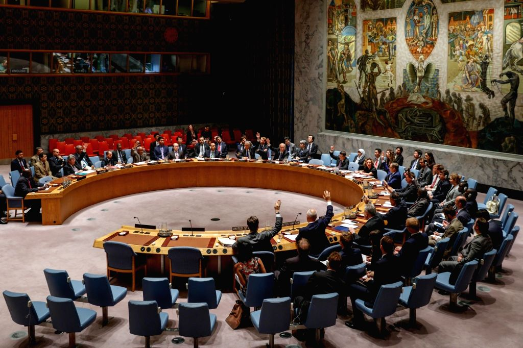 UNITED NATIONS, Aug. 12, 2016 - The United Nations Security Council holds a meeting on Sudan and South Sudan at the UN headquarters in New York, the United States, Aug. 12, 2016. A Chinese envoy on ...