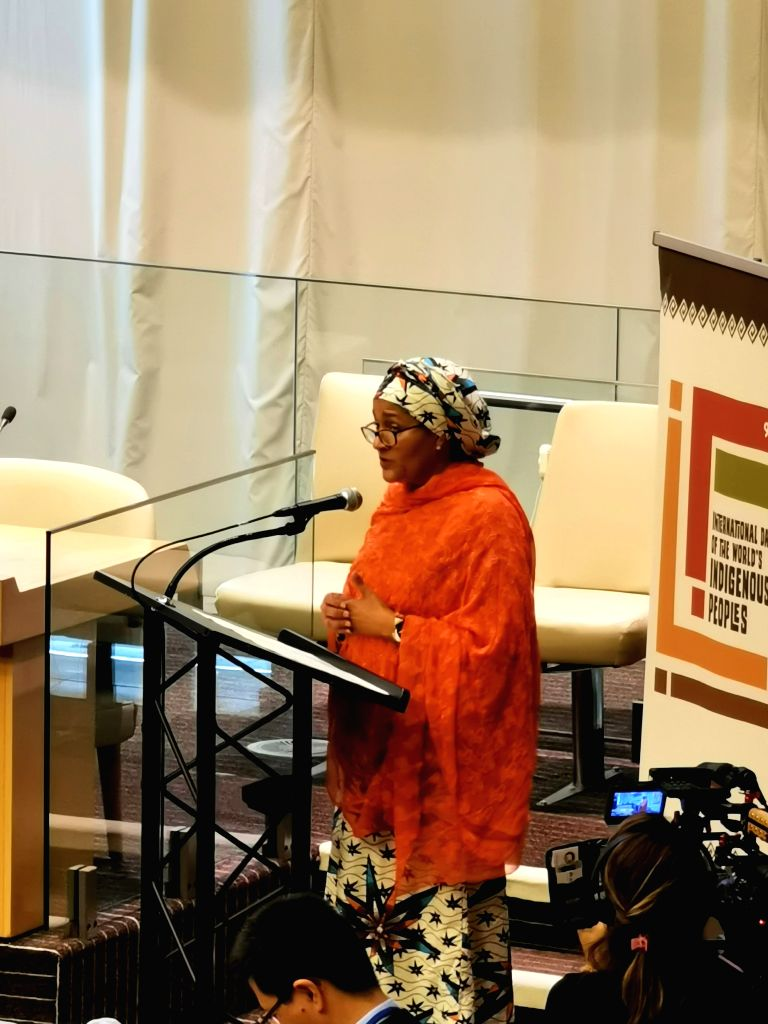 UNITED NATIONS, Aug. 9, 2019 - United Nations Deputy Secretary-General Amina Mohammed addresses an event commemorating the International Day of the World's Indigenous Peoples at the UN headquarters ...