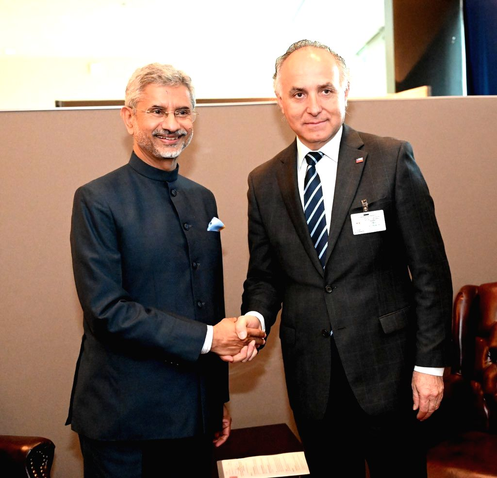 United Nations: External Affairs Minister S. Jaishankar meets Chilean Foreign Minister Teodoro Ribera on the sidelines of UNGA74 at United Nations on Sep 28, 2019. - S. Jaishankar