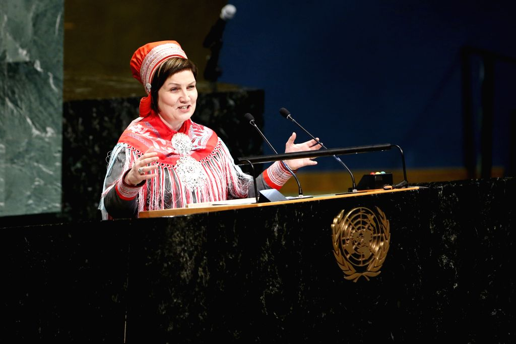 UNITED NATIONS, Feb. 2, 2019 - Aili Keskitalo, President of the Sami Parliament of Norway and Co-Chair of the Steering Committee for the organization of the International Year of Indigenous Languages ...