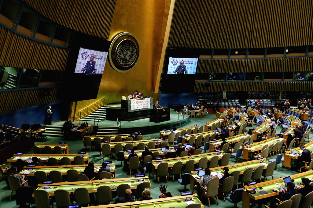 UNITED NATIONS, Feb. 2, 2019 - Photo shows the the launch ceremony of the first International Year of Indigenous Languages at the UN headquarters in New York, Feb. 1, 2019. UN General Assembly (UNGA) ...