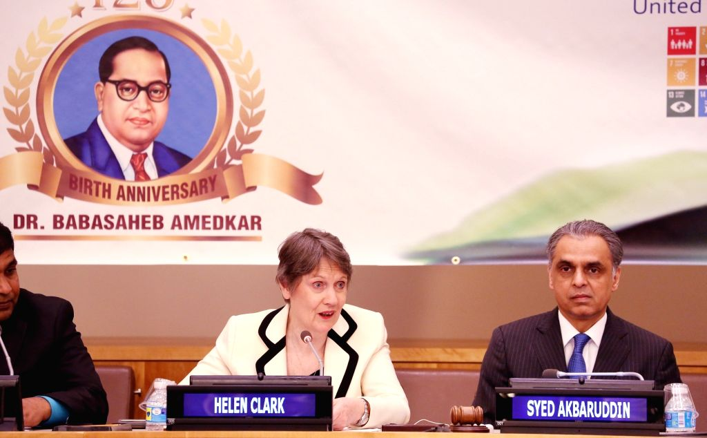 United Nations: Former Prime Minister of New Zealand and Current Administrator of the United Nations Development Programme Helen Clark, India's permanent representative to the UN Syed Akbaruddin and ...
