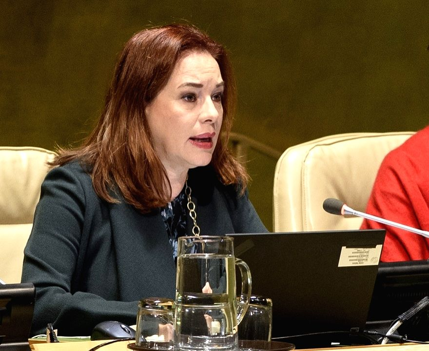 United Nations General Assembly President Maria Fernanda Espinosa Garces chairs the Assembly session on Security Council reforms on Tuesday, Nov. 20, 2018. (Photo: UN/IANS)