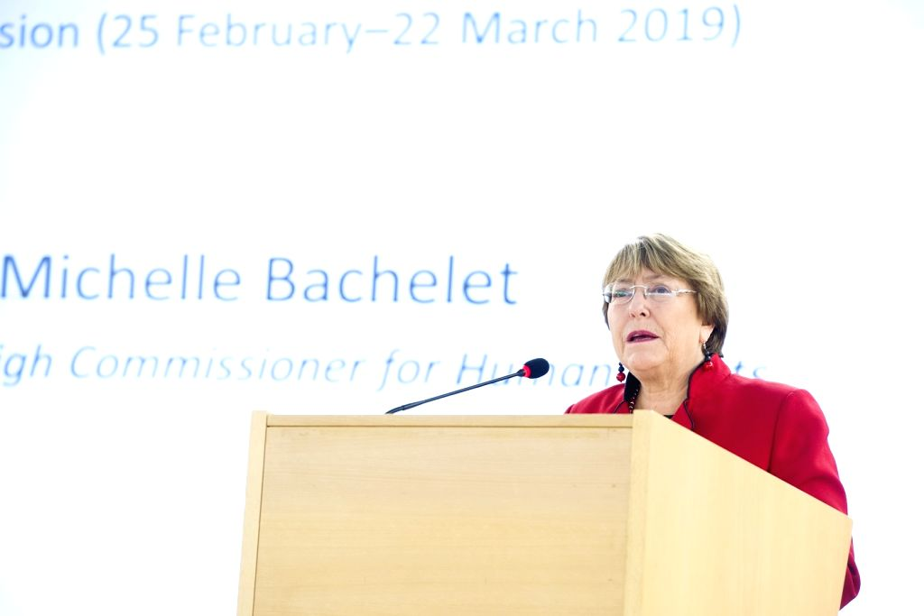 United Nations Human Rights High Commissioner Michele Bachelet. (File Photo: UN/IANS)