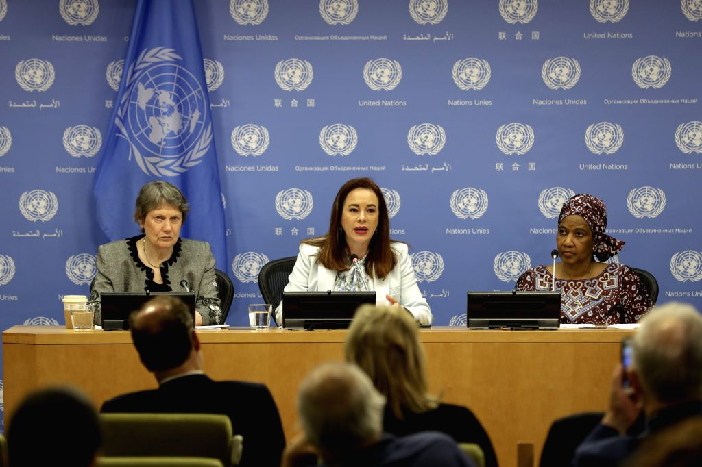 UNITED NATIONS, July 15, 2019 - Former Prime Minister of New Zealand Helen Clark, United Nations General Assembly (UNGA) President Maria Fernanda Espinosa Garces and Executive Director of UN Women ...