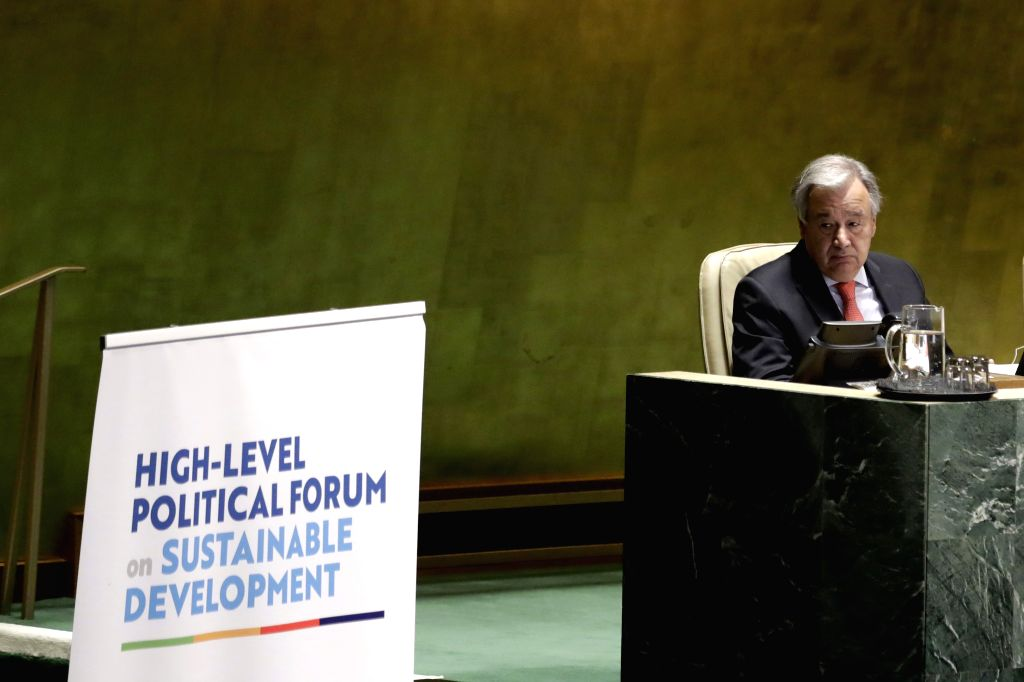 UNITED NATIONS, July 16, 2019 - United Nations Secretary-General Antonio Guterres attends the opening ceremony of the High-level Segment of the Economic and Social Council (ECOSOC) Ministerial ...