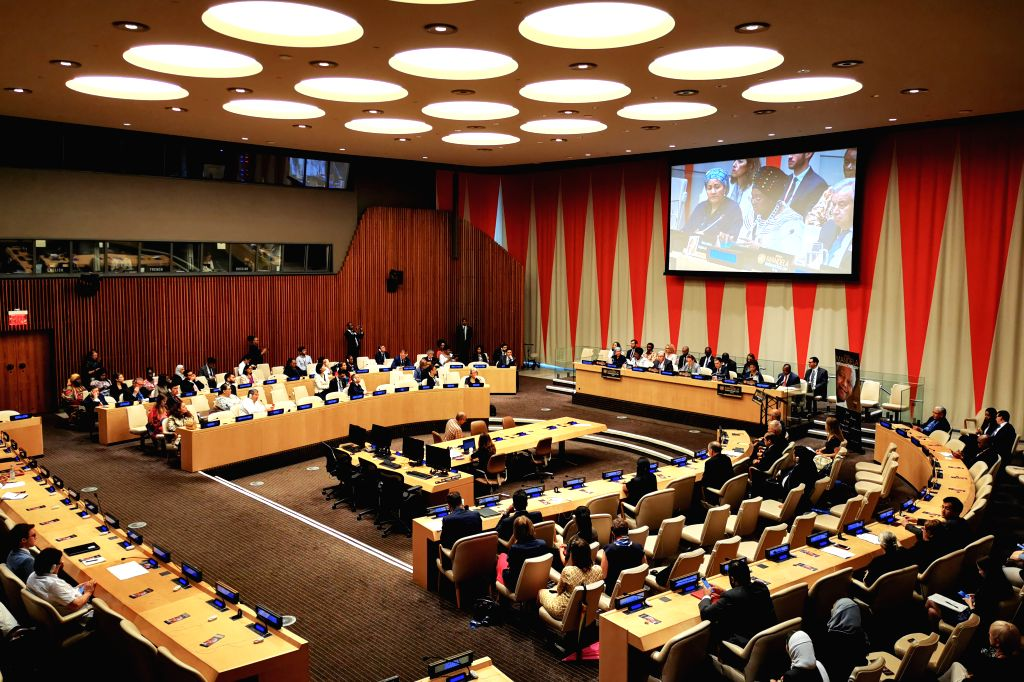 UNITED NATIONS, July 18, 2019 - The United Nations General Assembly holds a meeting on the observance of the annual Nelson Mandela International Day, at the UN headquarters in New York, on July 18, ...