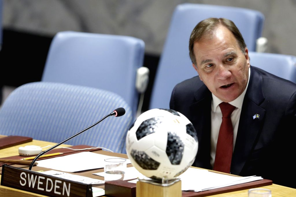 UNITED NATIONS, July 9, 2018 - Swedish Prime Minister Stefan Lofven, whose country holds the presidency of the Security Council for July, chairs a Security Council meeting on children and armed ... - Stefan Lofven