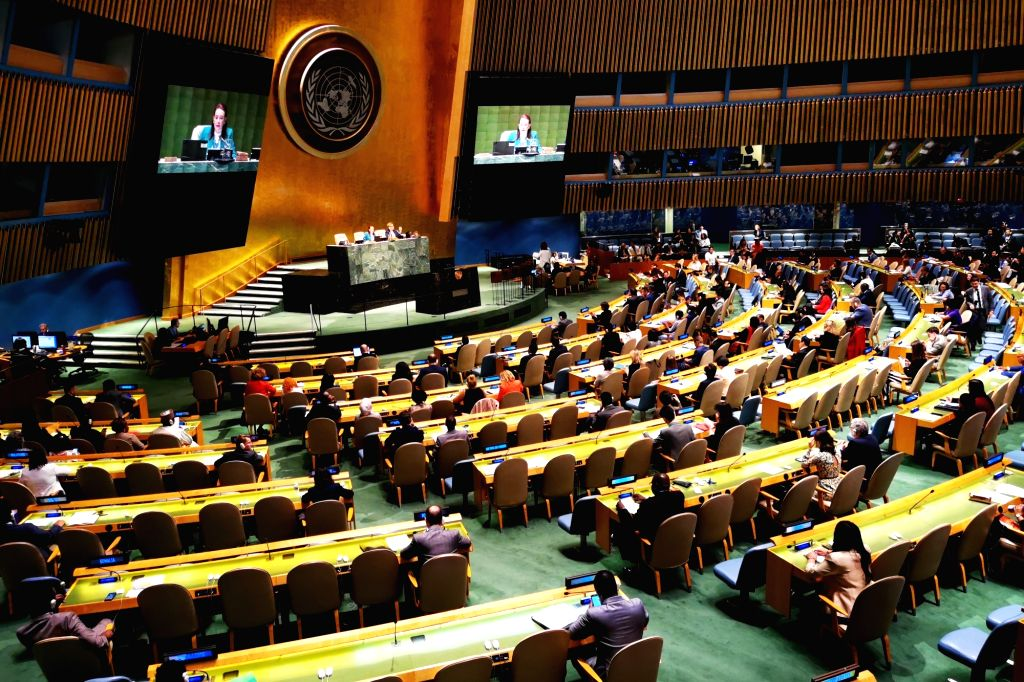 UNITED NATIONS, June 15, 2019 - Photo shows the Economic and Social Council (ECOSOC) election at the UN headquarters in New York, June 14, 2019. China on Friday was elected to the United Nations ...