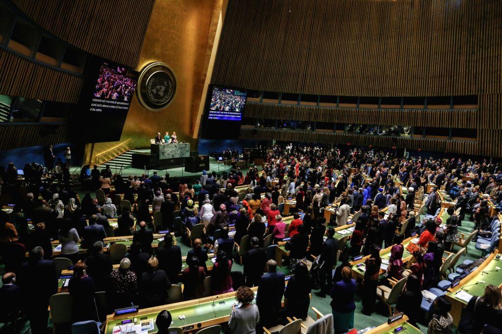 UNITED NATIONS, March 11, 2019 - The United Nations General Assembly observes a minute of silence for the UN staff members killed in the Ethiopian air crash at the UN headquarters in New York, March ...