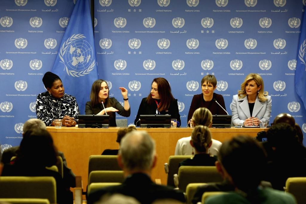 UNITED NATIONS, March 13, 2019 - President of Trinidad and Tobago Paula-Mae Weekes, Iceland's Prime Minister Katrin Jakobsdottir, President of the 73rd session of the United Nations General Assembly ... - Katrin Jakobsdottir