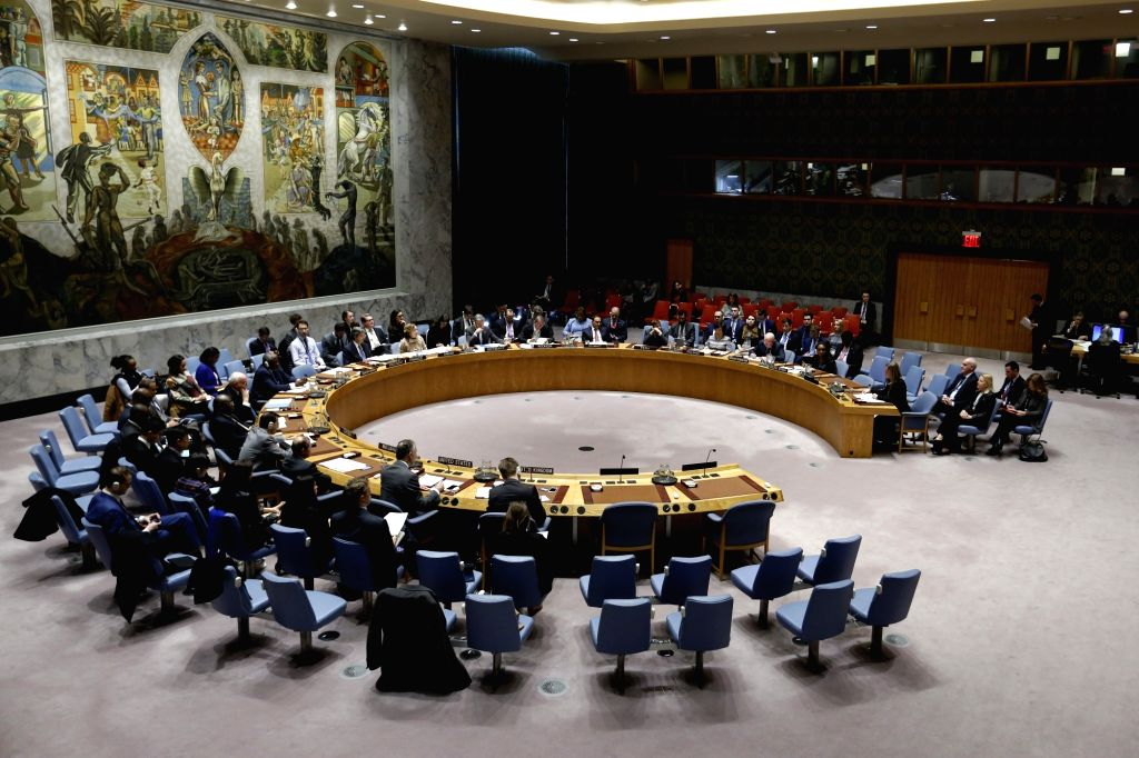 UNITED NATIONS, March 13, 2019 - The United Nations Security Council holds a debate on the UN-EU cooperation at the UN headquarters in New York March 12, 2019. EU foreign affairs and security policy ...