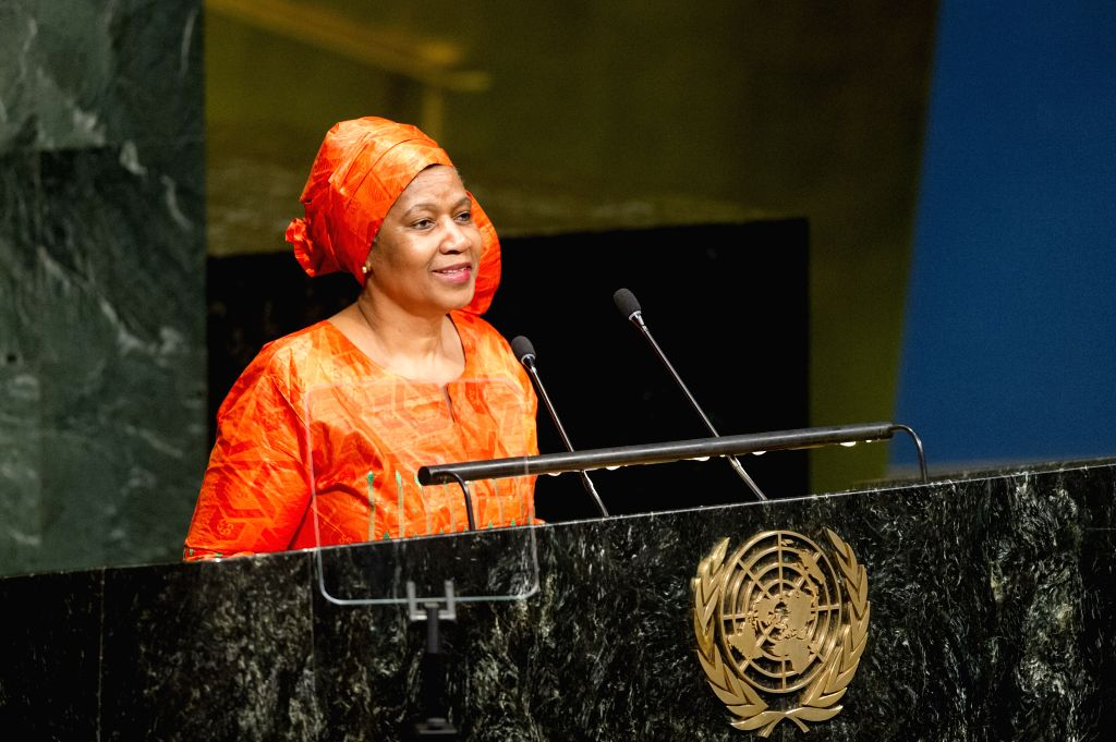 UNITED NATIONS, March 14, 2017 - Executive Director of UN Women Phumzile Mlambo-Ngcuka addresses the opening meeting of the 61st session of the UN Commission on the Status of Women at the UN ...