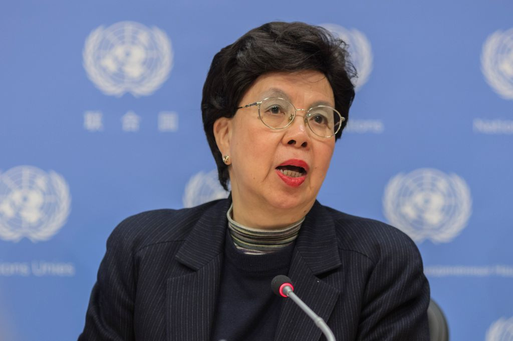 UNITED NATIONS, March 17, 2017 - World Health Organization (WHO) Director-General Margaret Chan attends a press conference at the UN headquarters in New York, March 16, 2017. The United Nations ...