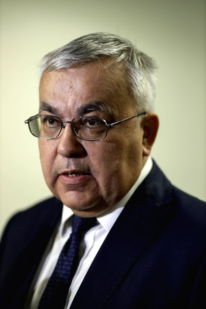 UNITED NATIONS, May 29, 2019 - Russian Deputy Foreign Minister Sergey Vershinin speaks to journalists after a UN Security Council closed consultation on Syria, at the UN headquarters in New York, on ... - Sergey Vershinin