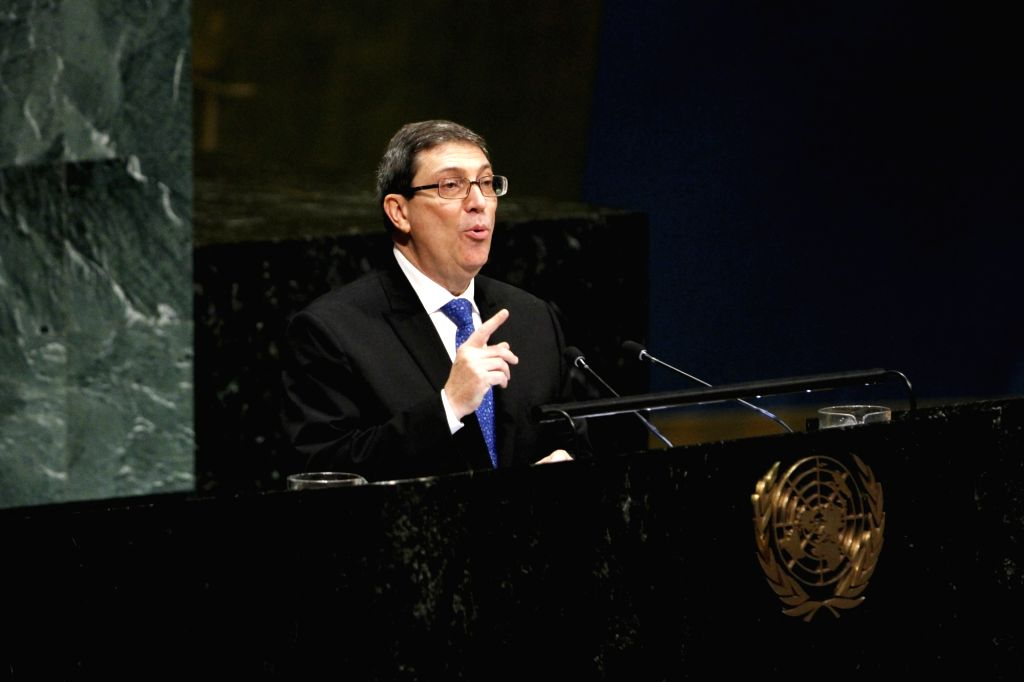 UNITED NATIONS, Nov. 1, 2018 - Cuban Foreign Minister Bruno Rodriguez addresses the UN General Assembly meeting at the UN headquarters in New York, Nov. 1, 2018. The United Nations General Assembly ... - Bruno Rodriguez