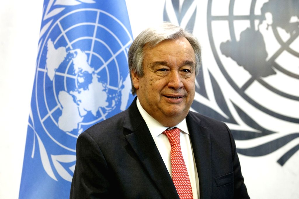 UNITED NATIONS, Oct. 13, 2016 - Photo taken on Oct. 13, 2016, shows United Nations Secretary-General-designate Antonio Guterres at the UN headquarters in New York. The United Nations General Assembly ... - Antonio Guterres