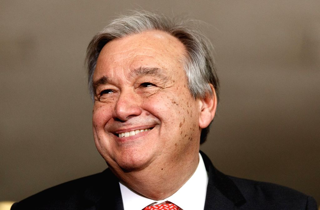 UNITED NATIONS, Oct. 5, 2016 - File photo taken on April 12, 2016, shows Antonio Guterres of Portugal at the UN headquarters in New York, the United States. Former Portuguese prime minister and the ...