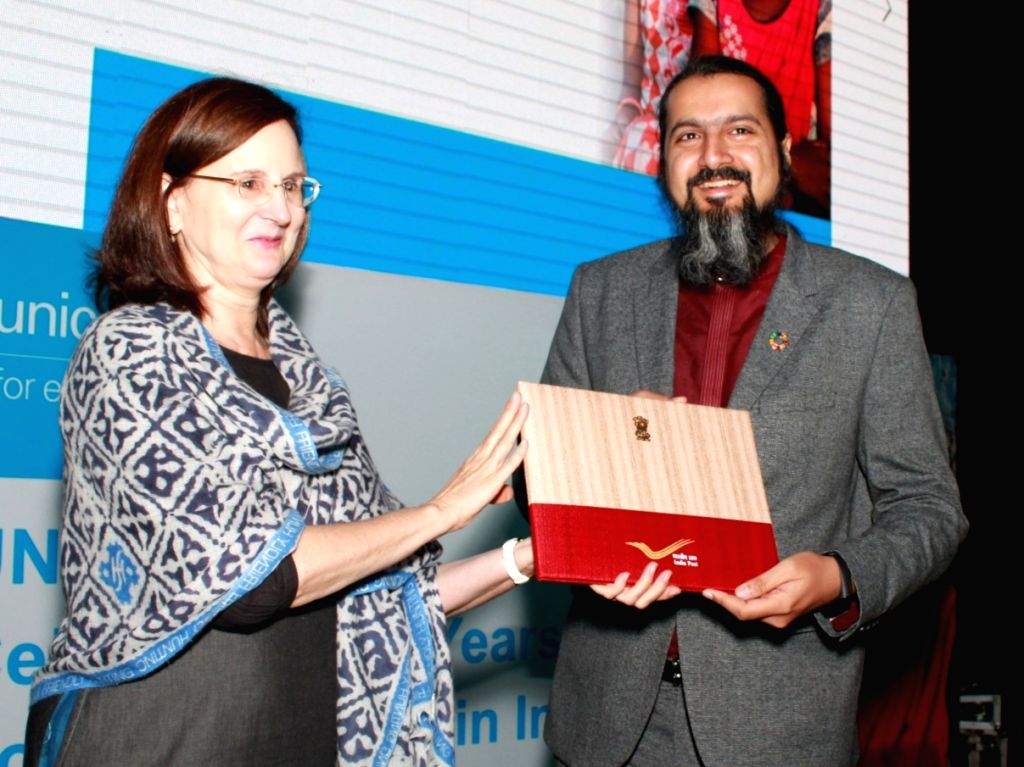 United Nations Resident Coordinator Renata Dessallien and Indian composer, music producer and environmentalist Ricky Kej during a programme organised by United Nations Children's Fund ...