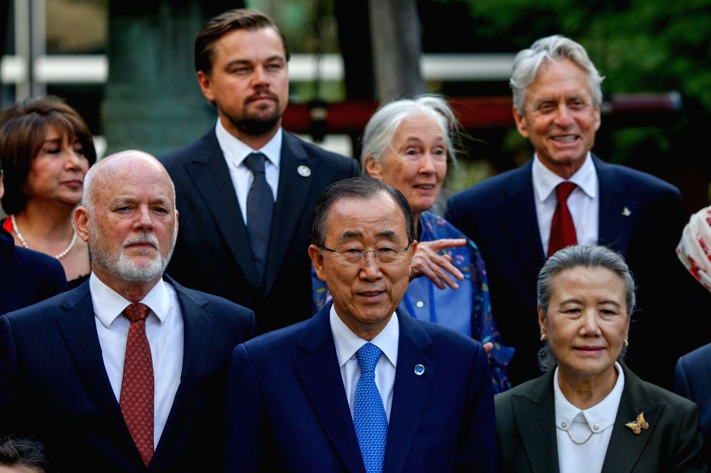UNITED NATIONS, Sept. 16, 2016 - Peter Thomson, president of the 71st session of United Nations General Assembly, UN Secretary-General Ban Ki-moon, his wife Yoo Soon-taek (L to R, 1st row), UN ...