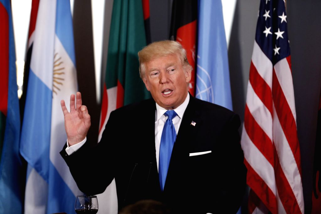 UNITED NATIONS, Sept. 20, 2017 - U.S. President Donald Trump speaks during a Heads of States Luncheon hosted by the United Nations Secretary-General Antonio Guterres, at the UN headquarters in New ...