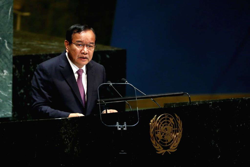 UNITED NATIONS, Sept. 28, 2019 - Cambodian Minister of Foreign Affairs Prak Sokhonn addresses the General Debate of the 74th session of the UN General Assembly at the UN headquarters in New York, on ...
