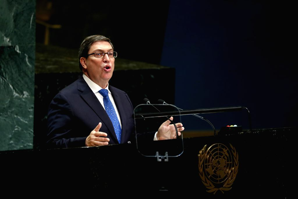 UNITED NATIONS, Sept. 28, 2019 - Cuban Foreign Minister Bruno Rodriguez Parrilla addresses the General Debate of the 74th session of the UN General Assembly at the UN headquarters in New York, on ... - Bruno Rodriguez Parrilla
