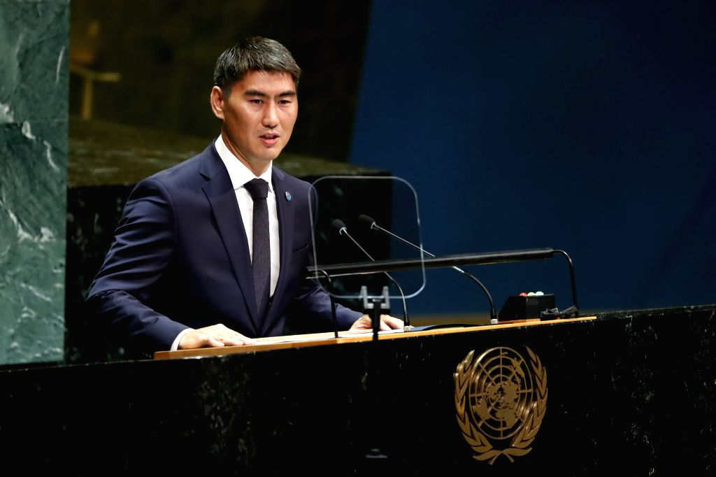 UNITED NATIONS, Sept. 28, 2019 - Kyrgyz Foreign Minister Chingiz Aidarbekov addresses the General Debate of the 74th session of the UN General Assembly at the UN headquarters in New York, on Sept. ... - Chingiz Aidarbekov