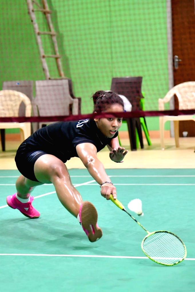 Unnati Bisht in action during Badminton Asia Junior Championships 2019 at the Suzhou Olympic Sports Centre in China on July 25, 2019.