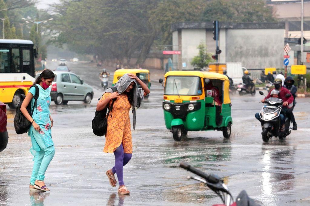 *Unseasonable rain hits bangalore, in Bengaluru on Friday 19th February 2021 - photo by IANS.*