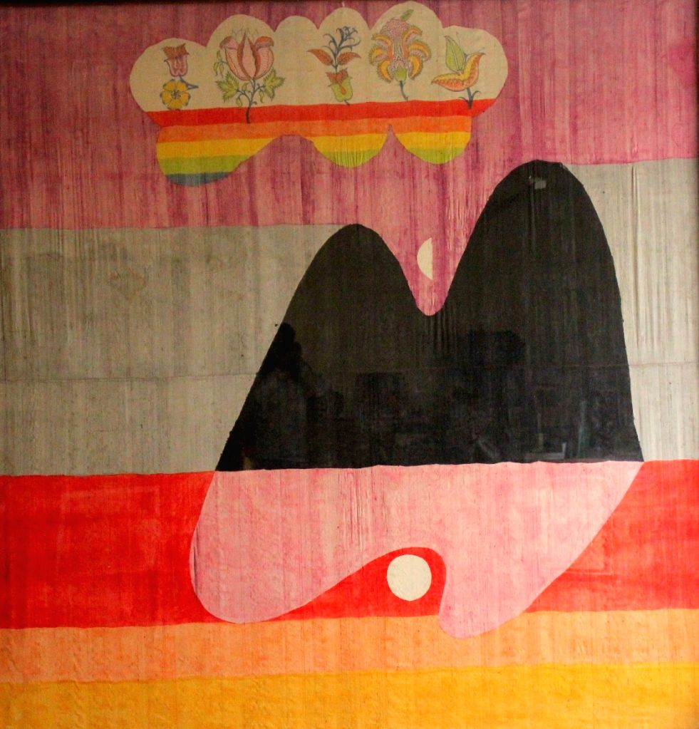 Untitled, Acid colour on Dupion silk. (Collection & Courtesy of Ajit Gadgil)