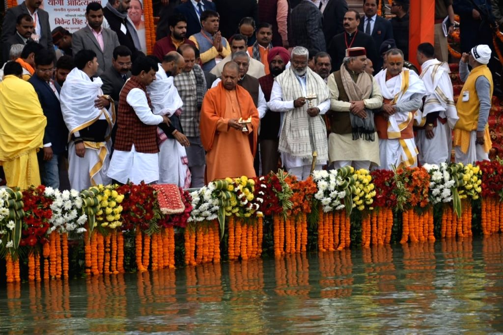 UP chief minister Yogi Adityanath, on Monday, embarked on his five-day Ganga Yatra under the 'Namami Ganga' campaign. - Yogi Adityanath