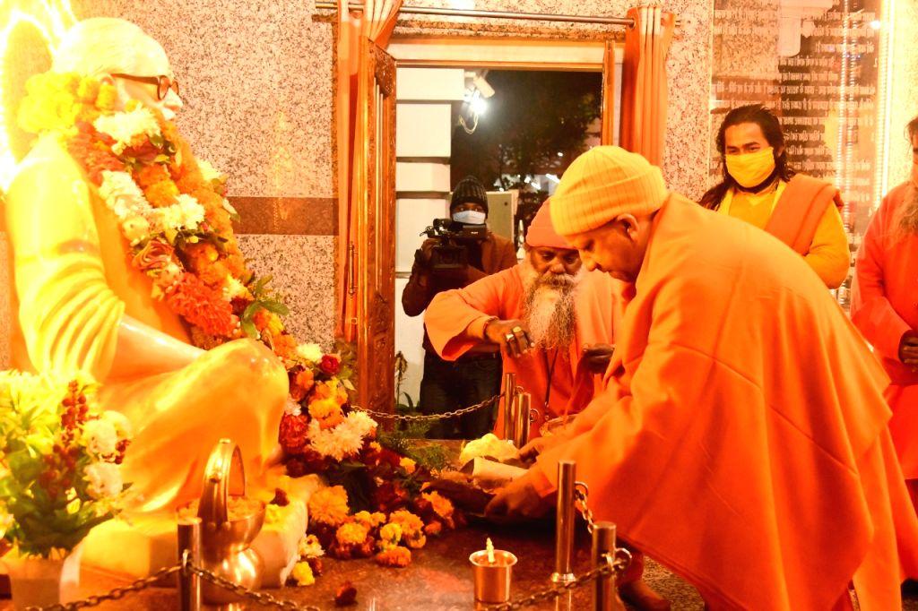 UP, CM Yogi Adityanath offering Khichdi to Baba Gorakhnath at Gorakhnath Temple