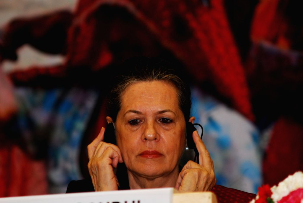 UPA Chairperson Sonia Gandhi at the 8th MGNREGA Divas on Saturday 2nd of February 2013 in New Delhi.
