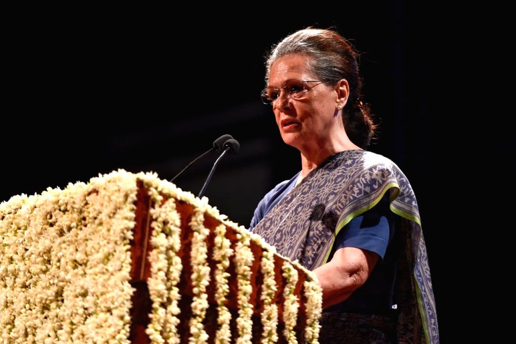 UPA Chairperson Sonia Gandhi during a programme organised to pay tribute to late party leader Sheila Dikshit in New Delhi on Aug 10, 2019. - Sonia Gandhi and Sheila Dikshit