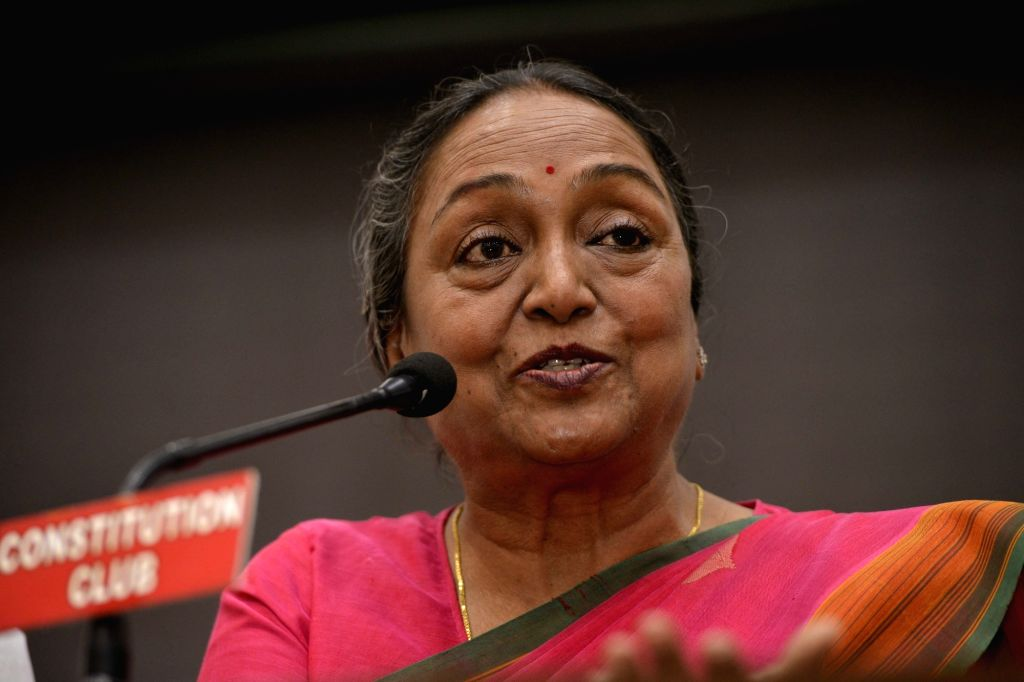 UPA's presidential candidate Meira Kumar addresses a press conference in New Delhi, on June 27, 2017. - Meira Kumar