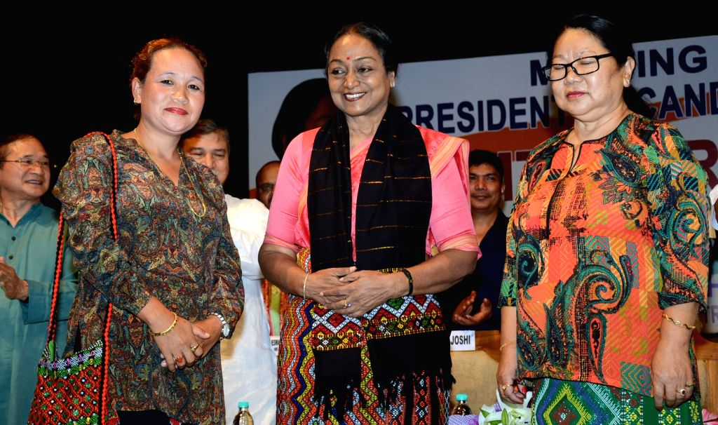 UPA's presidential candidate Meira Kumar during a programme organised to felicitate her in Guwahati, on July 5, 2017. - Meira Kumar