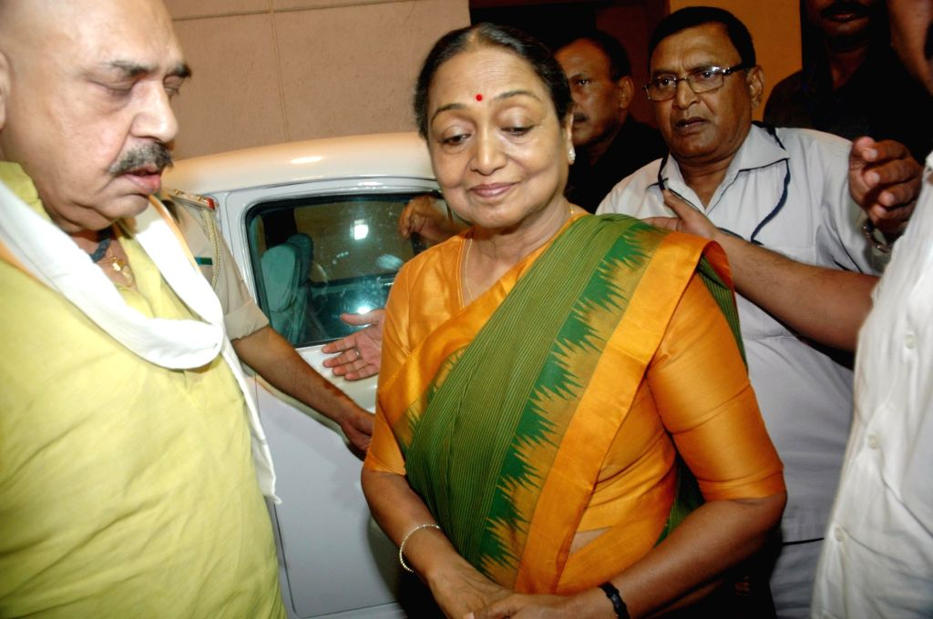 UPA's presidential candidate Meira Kumar during a programme in Patna, on July 5, 2017. - Meira Kumar