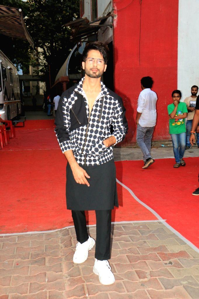 "Upcoming film ""Kabir Singh's"" starrer Shahid Kapoor on the sets of actress-host Neha Dhupia's chat show ???Vogue BFFs Season 3???, in Mumbai, on May 4, 2019. - Kabir Singh and Shahid Kapoor"