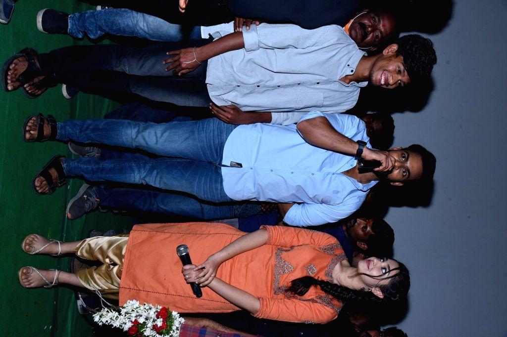 Uppena Movie Team Visit to Radhika Theater at Warangal.