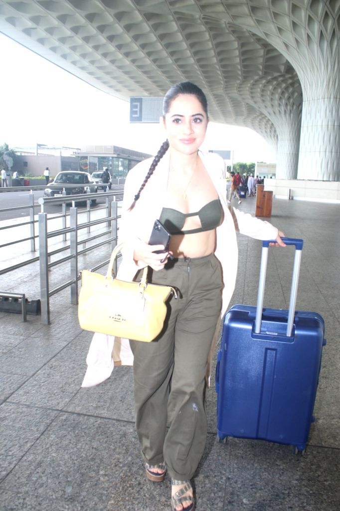 Urfi Javed Spotted At Airport Departure on 10 october,2021.