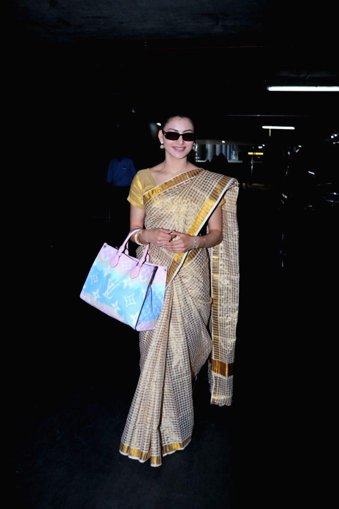 Urvashi Rautela seen at Airport on Tuesday, 26 January 2021.
